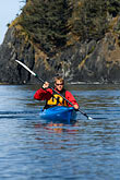 paddler stock photography | Alaska, Kodiak, Kayaking in Monashka Bay, image id 5-650-1237