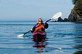 carefree stock photography | Alaska, Kodiak, Kayaking in Monashka Bay, image id 5-650-1262