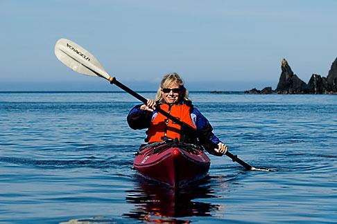 image 5-650-1263 Alaska, Kodiak, Kayaking in Monashka Bay