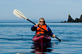 lady stock photography | Alaska, Kodiak, Kayaking in Monashka Bay, image id 5-650-1263