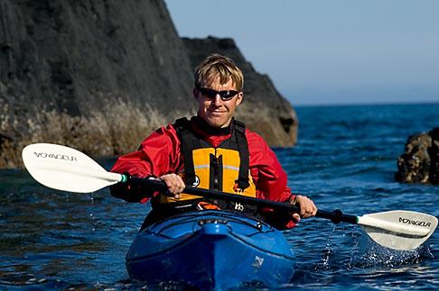 image 5-650-1333 Alaska, Kodiak, Kayaking in Monashka Bay