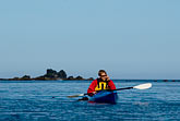 carefree stock photography | Alaska, Kodiak, Kayaking in Monashka Bay, image id 5-650-1350