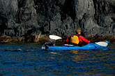 bluff stock photography | Alaska, Kodiak, Kayaking in Monashka Bay, image id 5-650-1367