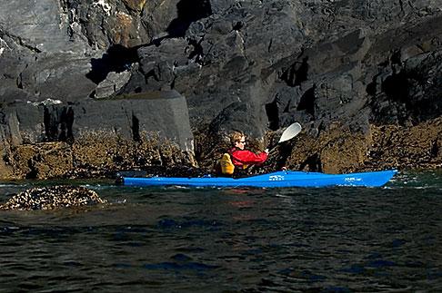 image 5-650-1370 Alaska, Kodiak, Kayaking in Monashka Bay