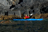 bluff stock photography | Alaska, Kodiak, Kayaking in Monashka Bay, image id 5-650-1370