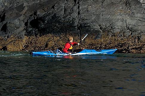 image 5-650-1372 Alaska, Kodiak, Kayaking in Monashka Bay