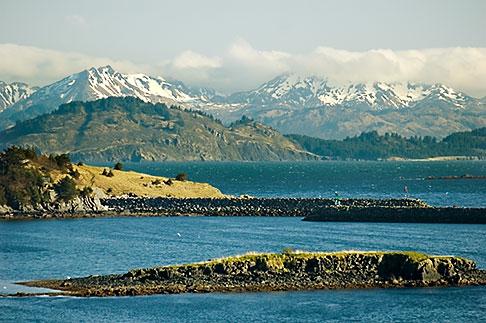 image 5-650-1384 Alaska, Kodiak, Mountains and bay