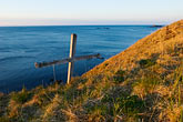 sea stock photography | Alaska, Kodiak, Chiniak, Memorial on coastal bluff, image id 5-650-1439