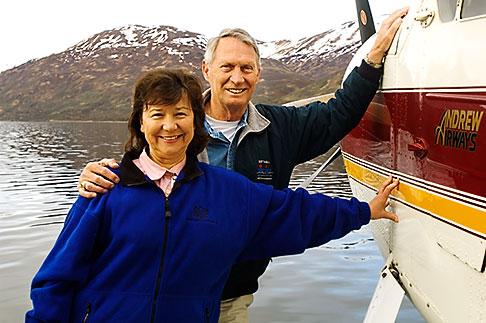 image 5-650-1522 Alaska, Kodiak, Tourists on seaplane