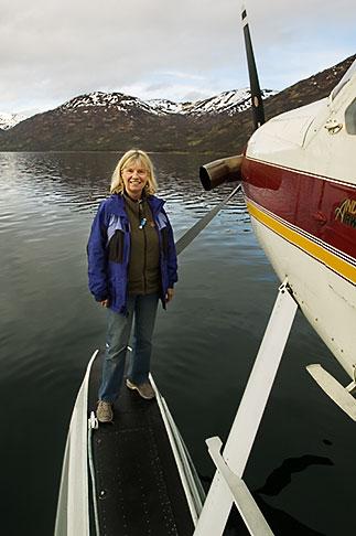 image 5-650-1525 Alaska, Kodiak, Tourist on seaplane