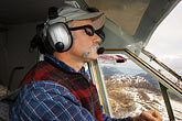 cockpit stock photography | Alaska, Kodiak, Flightseeing pilot, image id 5-650-1576