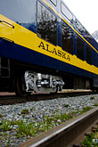 yellow stock photography | Alaska, Anchorage, Alaska Railway, image id 5-650-266