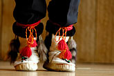 horizontal stock photography | Alaska, Anchorage, Moccasins, Native dancer, image id 5-650-3549