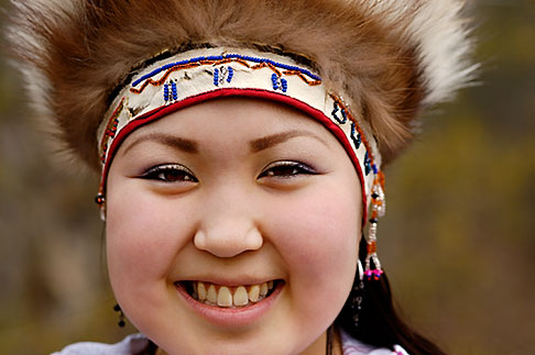 image 5-650-3599 Alaska, Anchorage, Yupik dancer