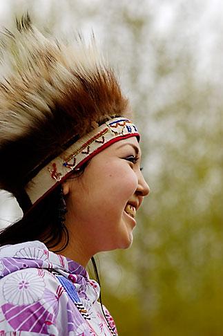 image 5-650-3612 Alaska, Anchorage, Yupik dancer