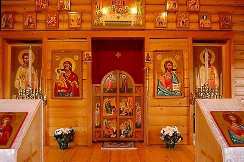 image 5-650-3759 Alaska, Kodiak, Icons of Jesus and Mary