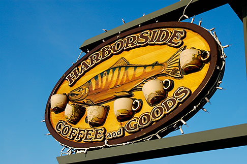 image 5-650-3851 Alaska, Kodiak, Coffeeshop sign