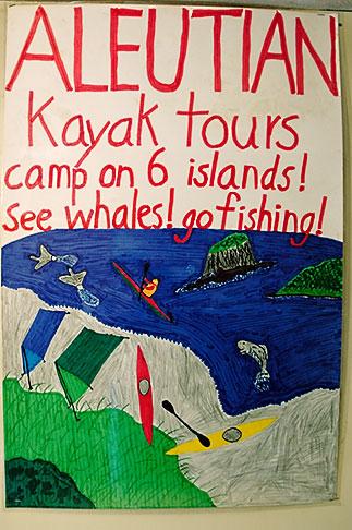 image 5-650-3880 Alaska, Kodiak, Aleutian Kayak Tours poster