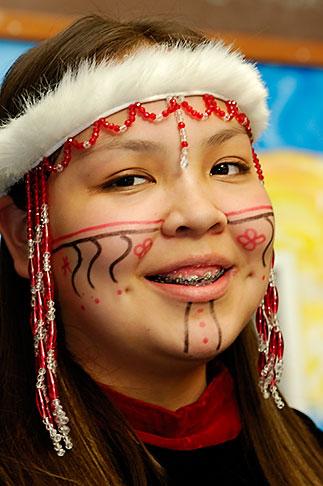 image 5-650-3968 Alaska, Kodiak, Alaskan Native dancer