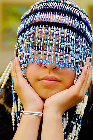 image 5-650-3979 Alaska, Kodiak, Alaskan Native dancer