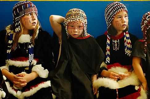 image 5-650-3996 Alaska, Kodiak, Alaskan Native dancers