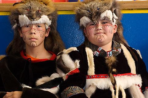 image 5-650-4003 Alaska, Kodiak, Alaskan Native dancers