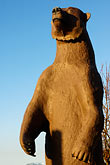 tall stock photography | Alaska, Statue of Kodiak bear, image id 5-650-4088