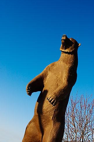 image 5-650-4089 Alaska, Statue of Kodiak bear