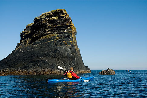image 5-650-4214 Alaska, Kodiak, Kayaking in Monashka Bay