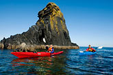 red rock stock photography | Alaska, Kodiak, Kayaking in Monashka Bay, image id 5-650-4226
