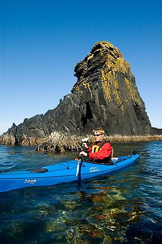 image 5-650-4230 Alaska, Kodiak, Kayaking in Monashka Bay
