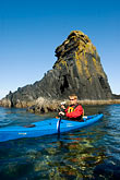 carefree stock photography | Alaska, Kodiak, Kayaking in Monashka Bay, image id 5-650-4230
