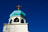 domed roofs stock photography | Alaska, Kodiak, Holy Resurrection Russian Orthodox Church, image id 5-650-4307