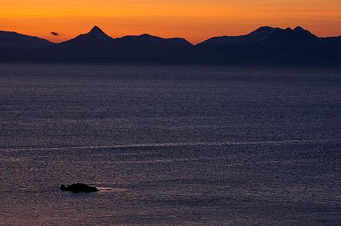 image 5-650-4361 Alaska, Kodiak, Chiniak Bay sunset