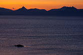 mountain stock photography | Alaska, Kodiak, Chiniak Bay sunset, image id 5-650-4361