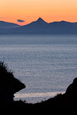mountain stock photography | Alaska, Kodiak, Chiniak Bay sunset, image id 5-650-4376