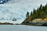 alaskan stock photography | Alaska, Prince WIlliam Sound, Tour ship and glacier, image id 5-650-481