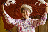 one woman only stock photography | Alaska, Anchorage, Yupik dancer, Alaskan Native Heritage Center, image id 5-650-624