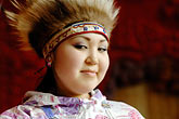 one woman only stock photography | Alaska, Anchorage, Yupik dancer, image id 5-650-629