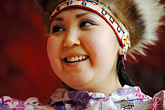 one woman only stock photography | Alaska, Anchorage, Yupik dancer, image id 5-650-633