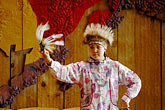one woman only stock photography | Alaska, Anchorage, Yupik dancer, Alaskan Native Heritage Center, image id 5-650-634