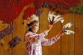 one woman only stock photography | Alaska, Anchorage, Yupik dancer, Alaskan Native Heritage Center, image id 5-650-638