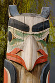 wood carving stock photography | Alaska, Anchorage, Totem Pole, image id 5-650-816