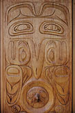 creation myth stock photography | Alaska, Juneau, Tlingit carving, image id 7-176-3