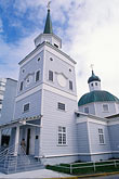 domed roofs stock photography | Alaska, Sitka, St Michael