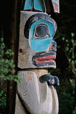 wood carving stock photography | Alaska, Sitka, Totem pole, Sitka National Historic Park, image id 7-205-7