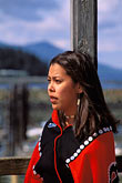 one woman only stock photography | Alaska, Ketchikan, Tsimshian woman, Metlakatla Island, image id 7-252-3