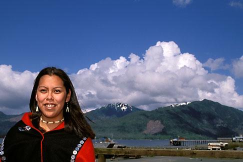 image 7-252-8 Alaska, Ketchikan, Tsimshian woman, Metlakatla Island
