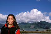 one woman only stock photography | Alaska, Ketchikan, Tsimshian woman, Metlakatla Island, image id 7-252-8