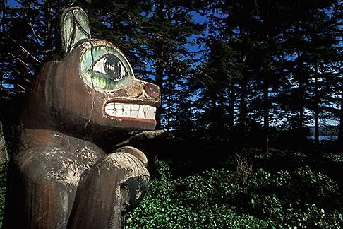 image 8-321-32 Alaska, Inside Passage, Totem pole, Kasaan